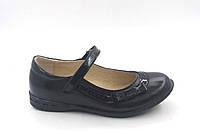 Детские туфли для девочек р. 29 - 19,3см ТМ Lapsi (Лапси) 16-1270 черные, фото 1
