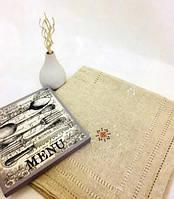 Скатерть льняная, 140х140 см, Скатерть из натурального льна с вышивкой,Эксклюзивные подарки, Столовый текстиль, фото 1