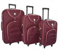 Набор чемоданов Bonro Lux бордовый (102404)