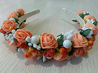 Веночек Розочки персиковые (0042)