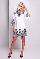 Платье Тая-3 черный узор д/р