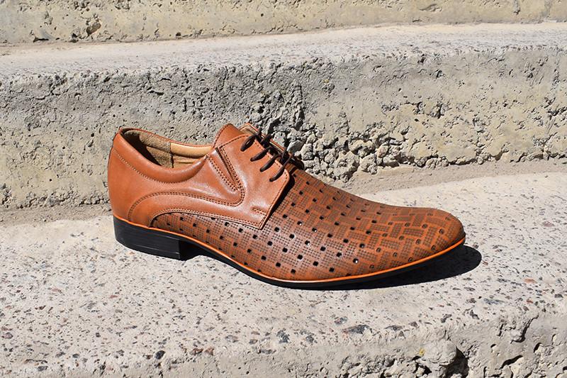 Остання пара - 45 розмір! Польські чоловічі туфлі Tapi - качественные мужские туфли!