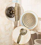 Душевая стойка со смесителем лейкой и тропическим душем бронза 0616, фото 3