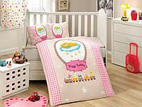 Комплект постельного белья ТМ Hobby детский Bambam розовый 100x150/2x35x45