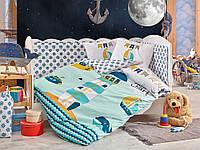 Комплект постельного белья ТМ Hobby детский Baby Sailor зелений 100x150/2x35x45