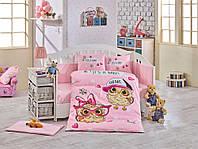 Комплект постельного белья ТМ Hobby детский Cool Baby розовый 100x150/2x35x45