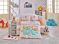 Комплект постельного белья ТМ Hobby детский Lovely персиковий 100x150/2x35x45