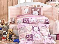 Комплект постельного белья ТМ Hobby детский Snoopy розовый 100x150/2x35x45