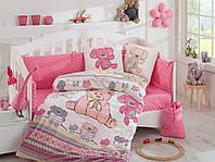 Комплект постельного белья ТМ Hobby детский Tombik розовый 100x150/2x35x45