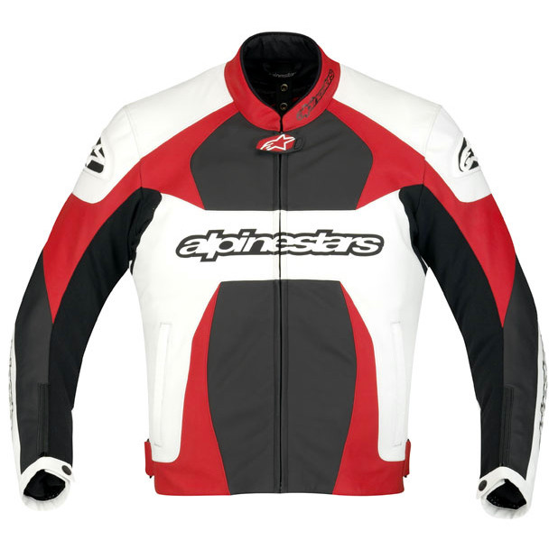"Куртка Alpinestars GP PLUS white/red/black кожа ""54"""