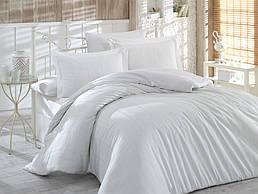 Комплект постельного белья ТМ Hobby Exclusive сатин страйп Diamond кремовый 200х220/2х50х70+2х70х70