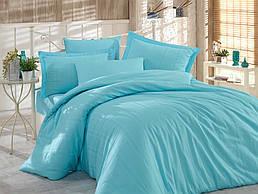Комплект постельного белья ТМ Hobby Exclusive сатин страйп Diamond аква 200х220/2х50х70+2х70х70