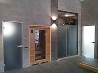 Двери матовые стеклянные  для саун и бань