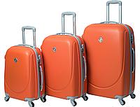 Набор чемоданов Bonro Smile 3 штуки оранжевый (110231)