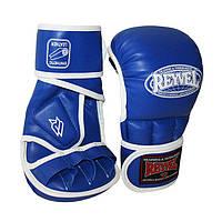 Перчатки для смешаных единоборств (рукопашные) Reyvel 4 oz размер L синие