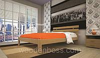 Кровать ТИС ДОМИНО 1 90*190/200 бук, фото 1