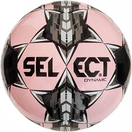 Мяч футбольный SELECT Dynamic Розовый/Черный 5 р., фото 2