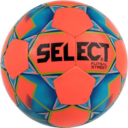 Мяч футзальный Select Futsal Street (032) оранж/син, фото 2