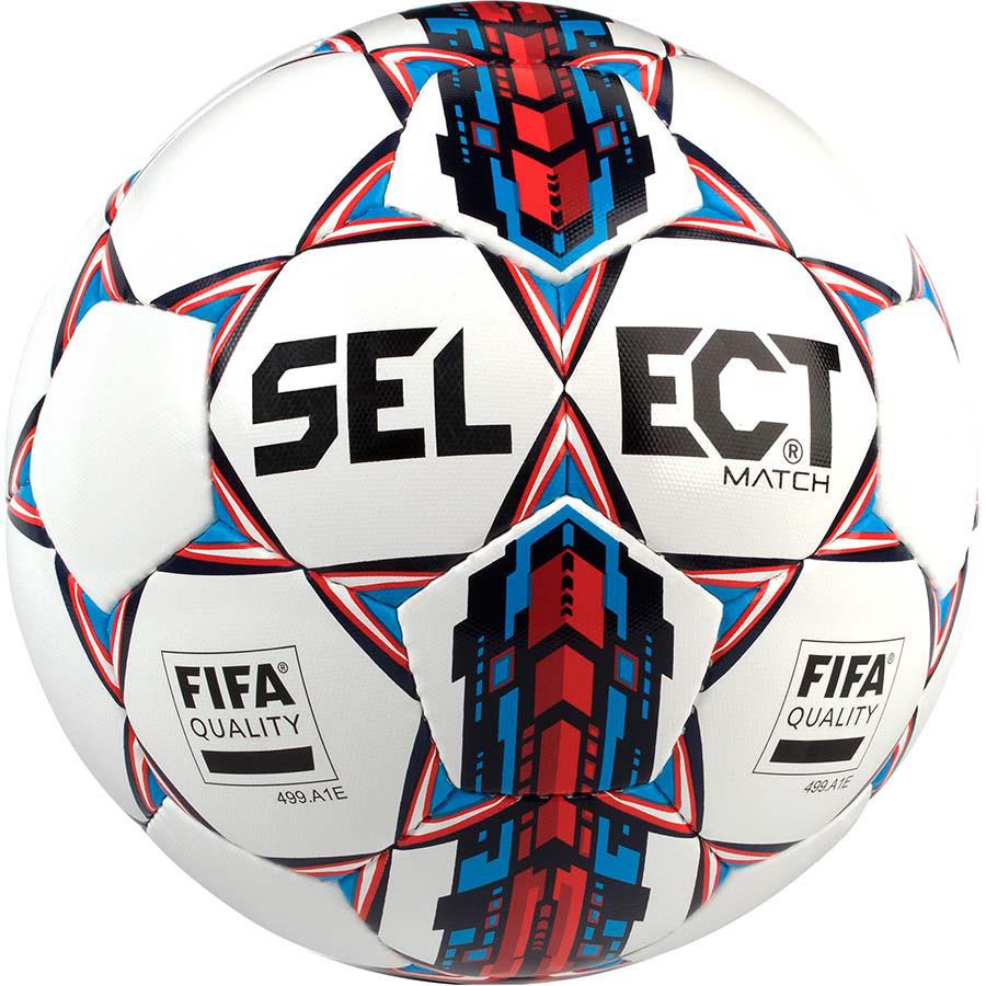 Мяч футбольный SELECT Match FIFA NEW Белый/Синий