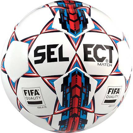 Мяч футбольный SELECT Match FIFA NEW Белый/Синий, фото 2