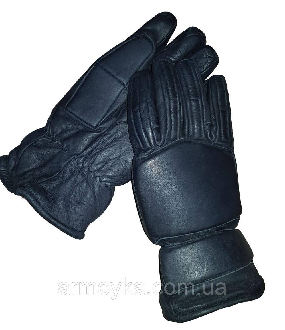Тактические защитные перчатки с демпферами Public Riot Leather/Kevlar Glove. Великобритания, оригинал