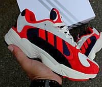 "Кроссовки Adidas Yung 1 ""Red/blue"". Живое фото. (Топ реплика ААА+)"