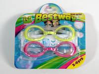 Очки для плавания детские / 21044 / Детские 2 шт / 3-6 лет 14x4x2 см