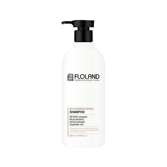 Шампунь з кератином Floland Premium Silk Keratin Shampoo 530 ml