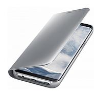 Чехол-книжка Original mirror Samsung A8 Plus Silver