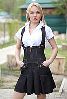 Сарафан школьный стрейчевый коттон