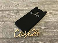Резиновый 3D чехол для Meizu M6S Усики черный
