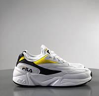 a199e96d0 Мужские кроссовки Fila Venom white/yellow. Натуральная кожа. Живое фото ( Реплика ААА