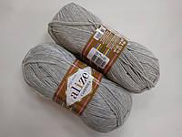 Пряжа для вязания Кашемир ALIZE светло серый