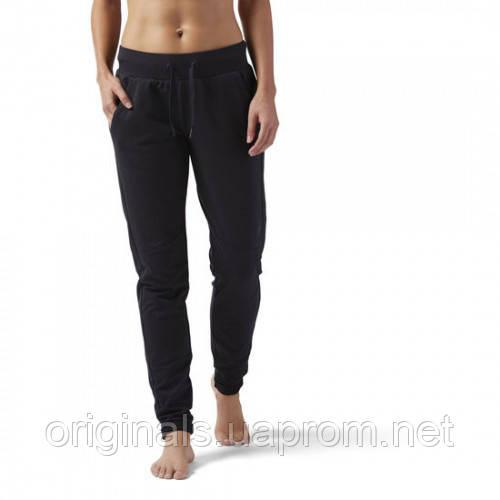 78ca950f Спортивные брюки женские черные Reebok Training Supply Slim CF8665 - 2018/2  - интернет-