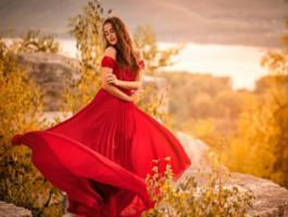 Платья женские длинные