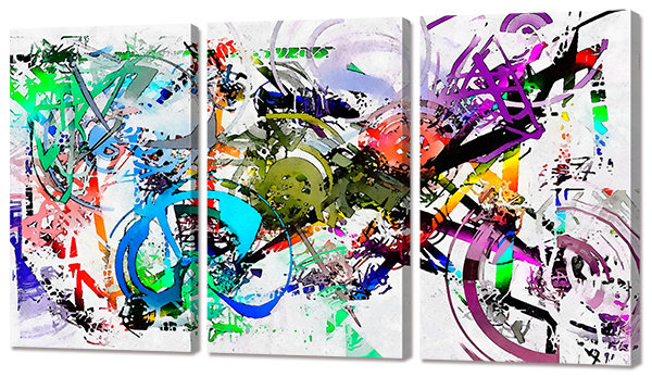 "Модульная картина ""Велосипед граффити"""