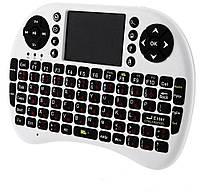 Беспроводная мини клавиатура 2.4 GHz с тачпадом русская клавиатура белая