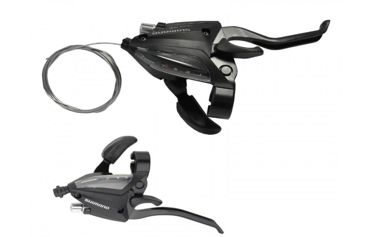 Моноблоки Shimano Altus ST-EF500, пара 3+7 скоростей +тросики