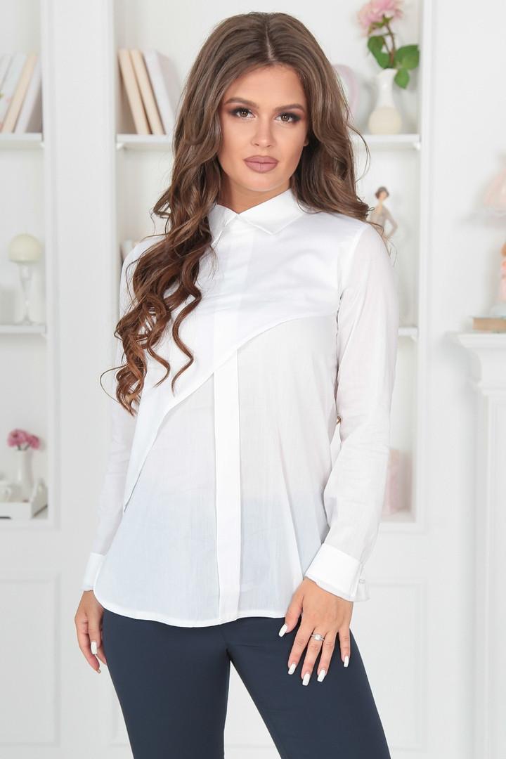 Женская блуза классика, белый