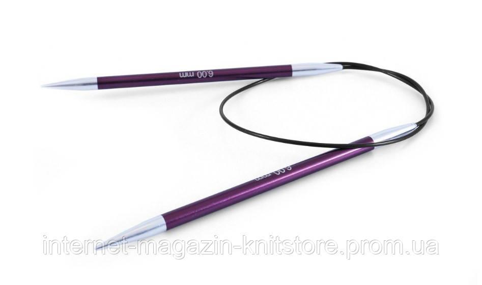 Спицы круговые Zing KnitPro | 60 см | 6 мм