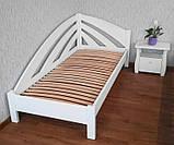 Кутова дерев'яна ліжко-тахта Веселка, фото 2