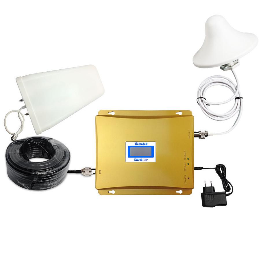 Двухдиапазонный усилитель GSM 3G сигнала репитер Lintrаtеk KW20L GW 900+2100 комплект ОРИГИНАЛ