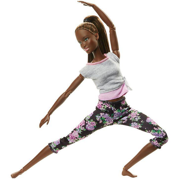 Кукла Барби Подвижная артикуляция Йога Barbie Made to Move Mattel темнокожая FTG83