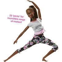 Кукла Барби Подвижная артикуляция Йога Barbie Made to Move Mattel темнокожая FTG83, фото 3