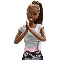Кукла Барби Подвижная артикуляция Йога Barbie Made to Move Mattel темнокожая FTG83, фото 6
