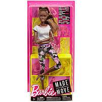 Кукла Барби Подвижная артикуляция Йога Barbie Made to Move Mattel темнокожая FTG83, фото 7