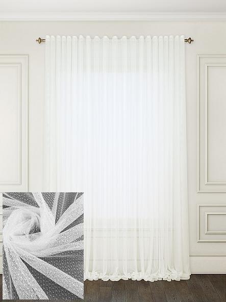 Тюль гипюр Соренто Белый, готовая тюль 3м