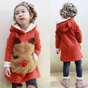 Детский костюм для девочек зайка на меху, фото 2