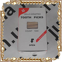 Зубочистка 68 мм., 1000 шт., в целлофане Kogler