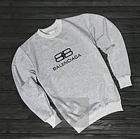 Спортивный свитшот, кофта, реглан Balenciaga (серый),Реплика